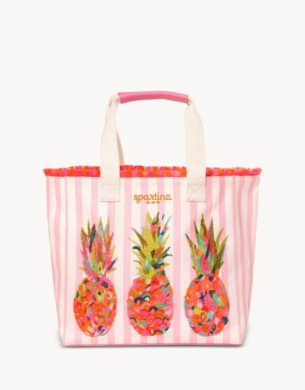 Pineapple Beach Tote in Moreland