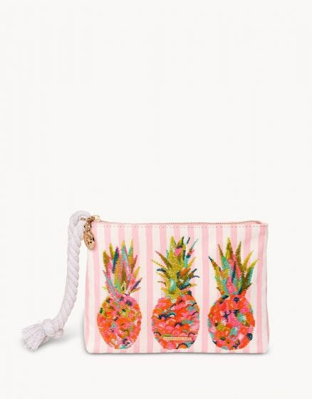 Pineapple Carina Wristlet in Moreland
