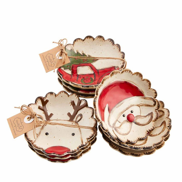 Farmhouse Christmas Tid Bit Dish Set
