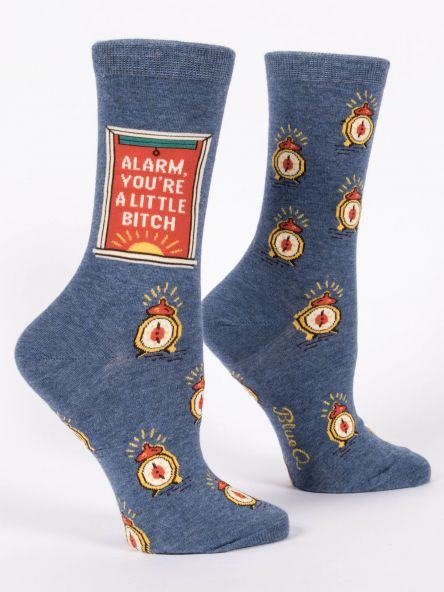 Women's Crew Socks Alarm You're a B*itch