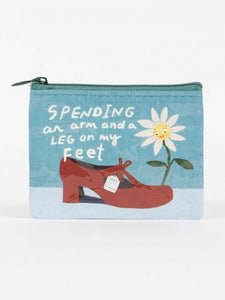 Coin Purse Spending Arm & Leg on Feet