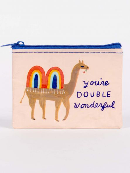 Coin Purse You're Double Wonderful