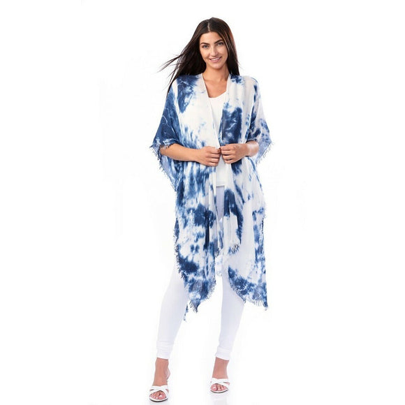 Avenue 9 Viscose Tie Dye Cover Up- Blue