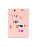 Say Yes Clipboard Folio
