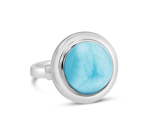 Neptune Cocktail Larimar Ring