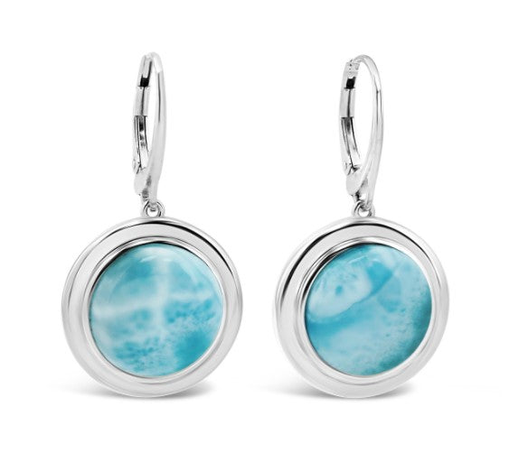 Neptune Larimar Earrings