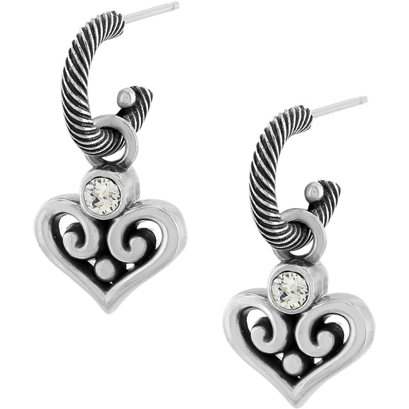 Alcazar Heart Hoop Drop Earrings