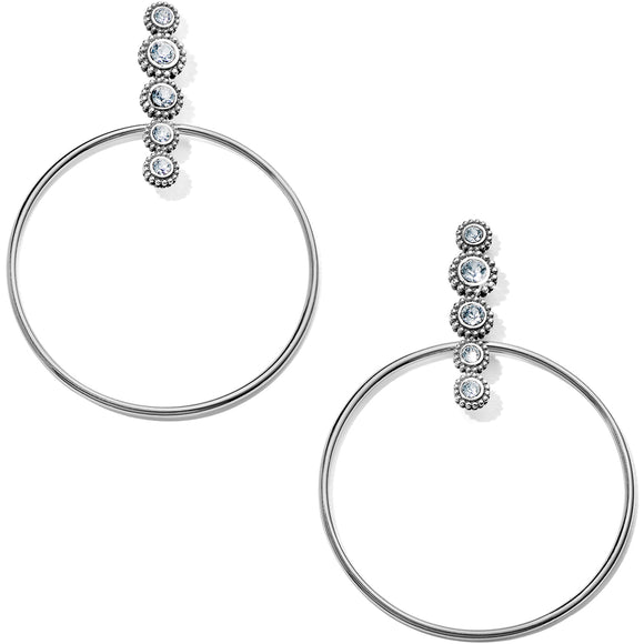 Twinkle Post Hoop Earrings