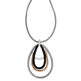 Neptune's Rings Black Convertible Pendant Necklace