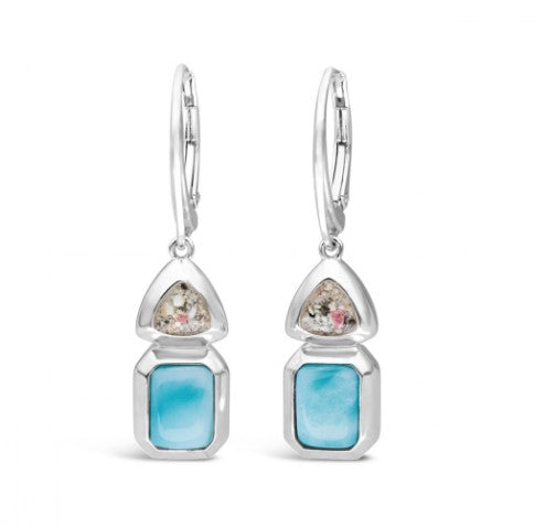 Serenity Larimar and Anna Maria Island Sand Earrings