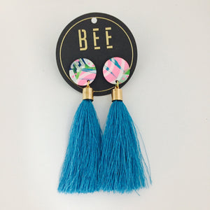 'BEE' Molly Drops Blue Tassel