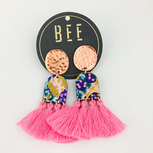 'BEE' Verity Drops Pink Tassel
