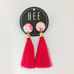 'BEE' Molly Drops Bright Pink Tassel