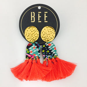 'BEE' Verity Drops Red Tassel
