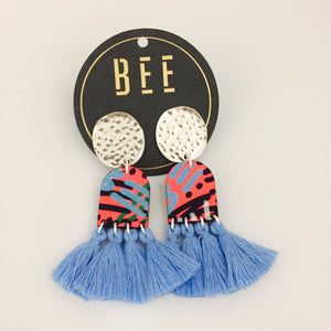 'BEE' Verity Drops Light Blue Tassel