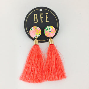'BEE' Molly Drops Salmon Tassel