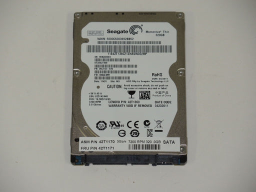 "Seagate 2.5"" SATA 320 GB 7200 RPM HDD Laptop Hard Drive ST320LT000"