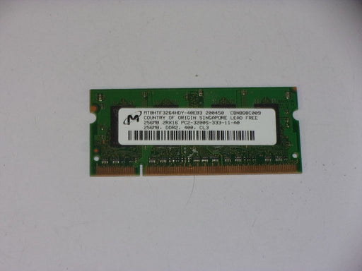 Micron 256MB PC2-3200 DDR2-400 400 MHz Laptop Memory RAM MT8HTF3264HDY-40EB3
