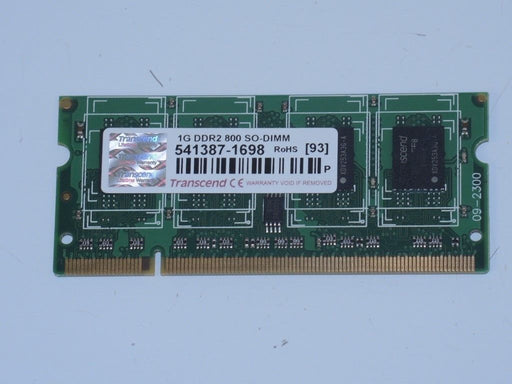 Transcend 1 GB PC2-6400 DDR2-800 Laptop Memory RAM Sodimm 541387-1698