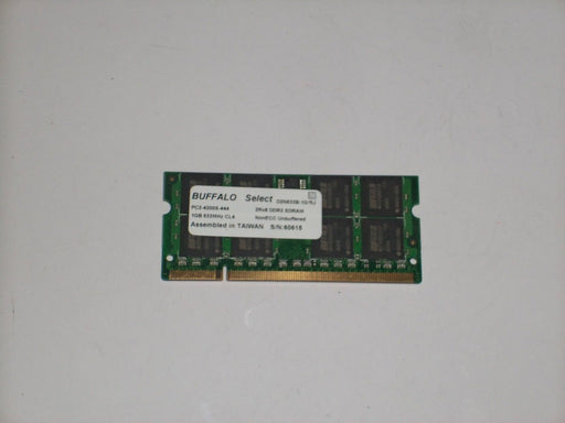 Buffalo 1 GB PC2-4200 DDR2-533 400 MHz Laptop Memory RAM D2N533B-1G/BJ
