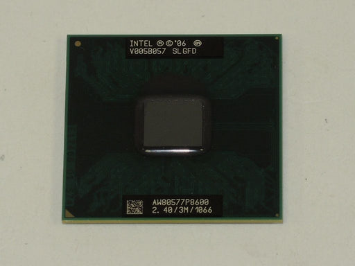 Intel Core 2 Duo Mobile P8600 2.4 GHz Laptop Processor CPU AW80577SH0563M SLGFD
