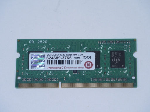Transcend 2GB PC3-10600 DDR3-1333 1333MHz Laptop Memory RAM 624689-3765