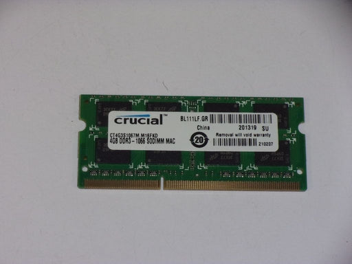 Crucial 4 GB PC3-8500 DDR3-1066 1066 MHz Memory RAM CT4G3S1067M.M16FKD