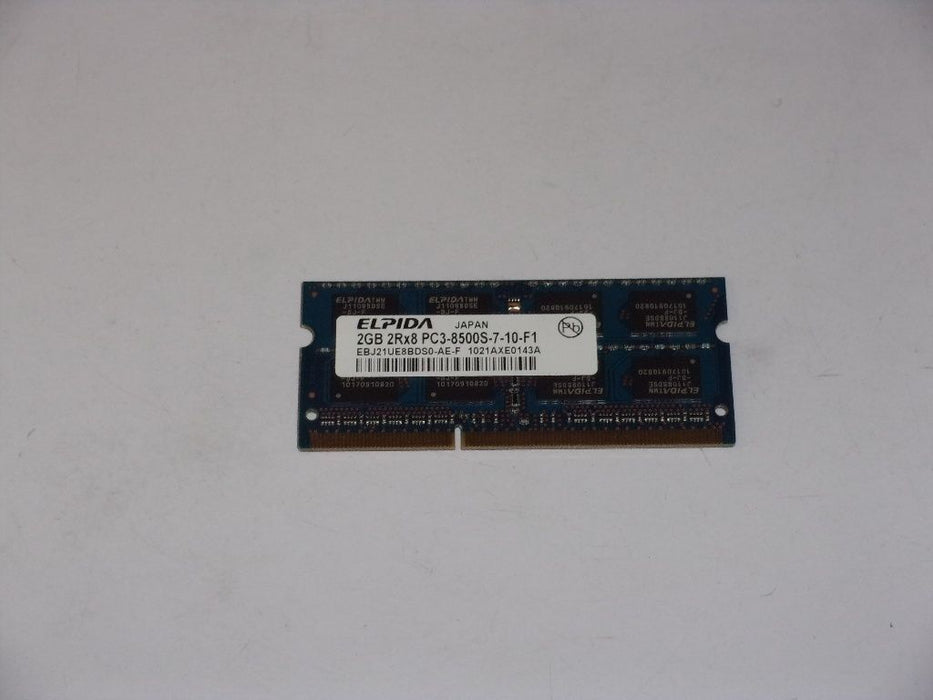 Elpida 2 GB PC3-8500 DDR3-1066 1066 MHz Laptop Memory RAM EBJ21UE8DS0-AE-F