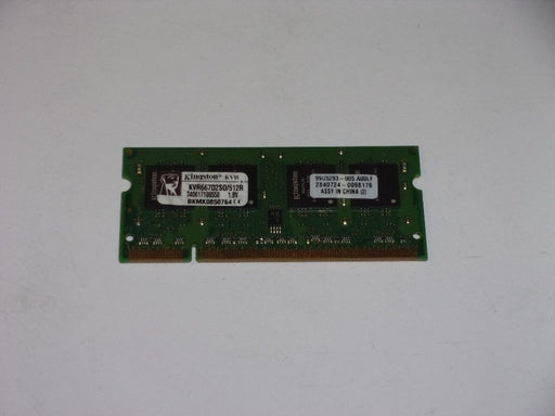 Kingston 512 MB PC2-5300 DDR2-667 MHz Laptop Memory RAM KVR667D2S0/512R