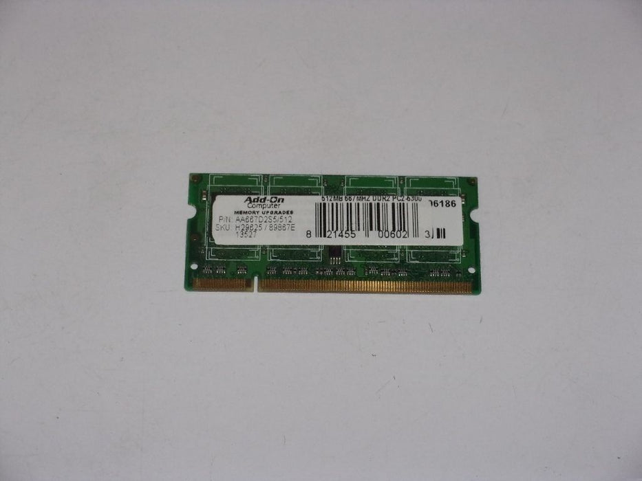 Add-On 512MB PC2-5300 DDR2-667 667MHz Laptop Memory RAM AA667D2S5/512