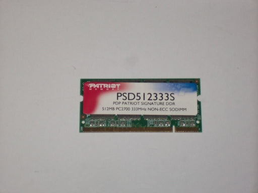 Patriot 512 MB PC-2700 DDR-333 333MHz Laptop Memory Ram PSD512333S