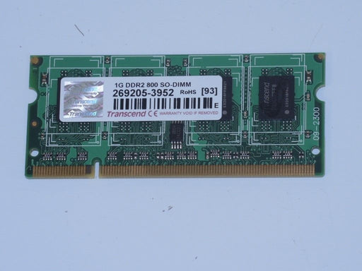Transcend 1 GB PC2-6400 DDR2-800 Laptop Memory RAM 269205-3952