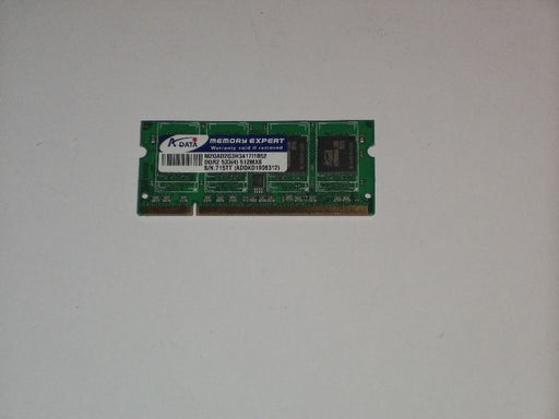 ADATA 512 MB PC2-4200 DDR2-533 533 MHz Laptop Memory RAM ADOKD1908312