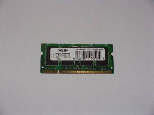 Add-On 1 GB PC2-4200 DDR2-533 533 MHz Memory RAM AP533D2S4/1GB