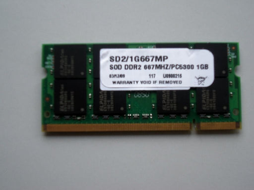 Matchless 1 GB PC2-5300 Laptop Memory RAM Sodimm SD2/1G667MP