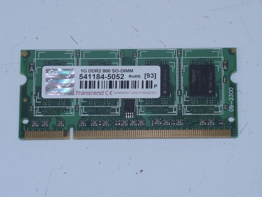 Transcend 1 GB PC2-6400 DDR2-800 Laptop Memory RAM 541184-5052