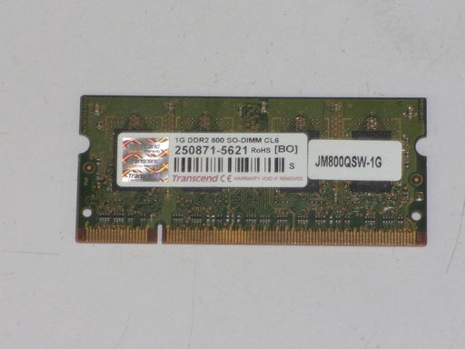 Transcend 1 GB PC2-6400 DDR2-800 Laptop Memory RAM Sodimm JM800QSW-1G