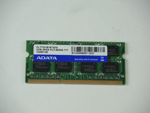 ADATA 2 GB PC3-8500 DDR3-1066 1066 MHz Laptop Memory RAM EL7YG1B1672ZG