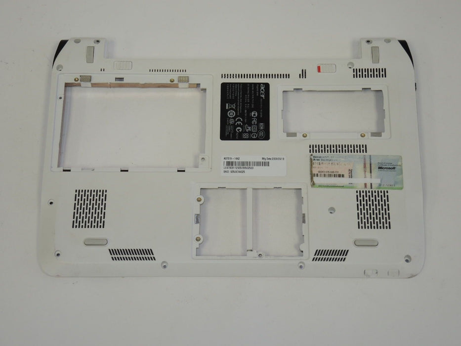 Acer Aspire One 751H Laptop Bottom Case White 38ZA3BATN600