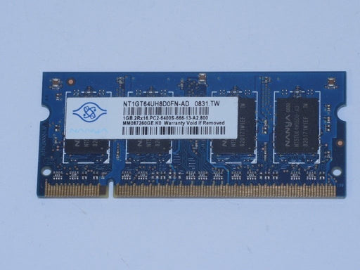 Nanya 1 GB PC2-6400 DDR2-800 800MHz Laptop Memory Ram NT1GT64UH8D0FN-AD