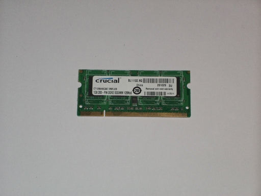 Crucial 1 GB PC2-5300 DDR2-667 667 MHz Laptop Memory RAM CT12864AC667.M8FJ28