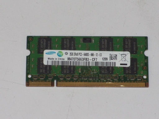 Samsung 2 GB PC2-6400 DDR2-800 Laptop Memory RAM Sodimm M470T5663FB3-CF7