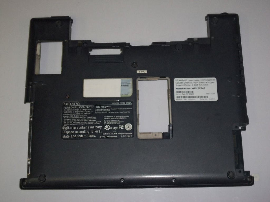 Sony Vaio VGN-BX Series Bottom Case 3-211-684
