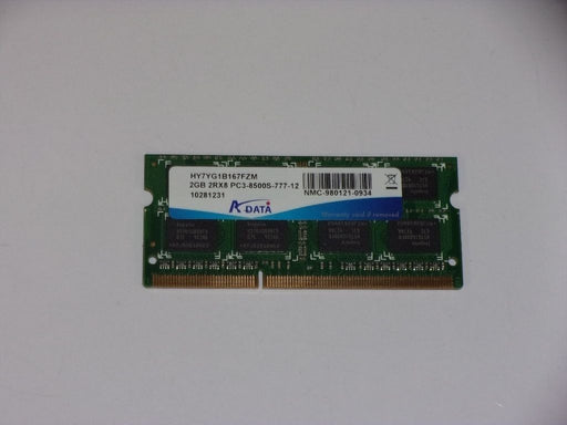 ADATA 2GB PC3-8500 DDR3-1066 1066 MHz Laptop Memory Ram HY7YG1B167FZM