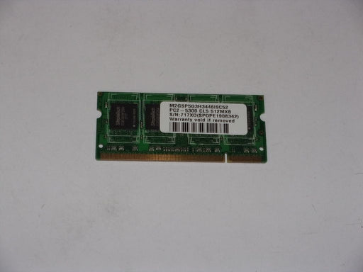 SimpleTech 512 MB PC2-5300 DDR2-667 667 MHz Laptop Memory RAM M2GSP5G3H3446I9C52