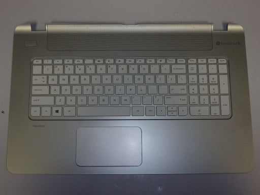HP Pavilion 17-f Series Touch Pad Palmrest w/Keyboard Silver EAY17006040