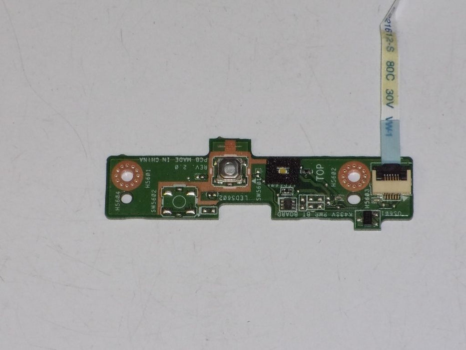 Asus A43SV Power Button Board W/ Cable 60-N3UIO1000 3FKJ1PB0020