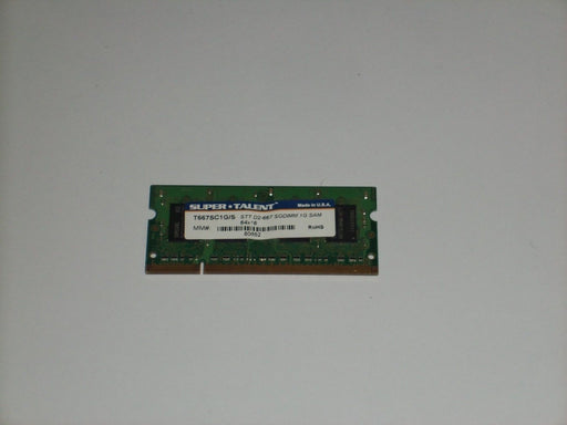 Super Talent 1 GB PC2-5300 DDR2-667 667 MHz Memory RAM T667SC1G/S