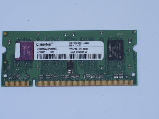 Kingston 1 GB PC2-6400 DDR2-800 800MHz Laptop Memory Ram ASU128X64D2S800C6