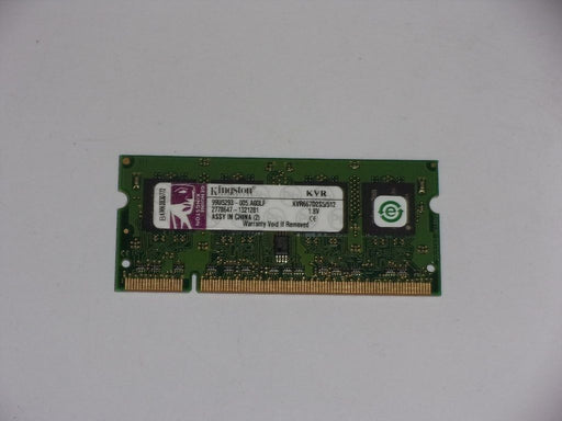 Kingston 512 MB PC2-5300 DDR2-667 667 MHz Laptop Memory RAM KVR667D2S5/512